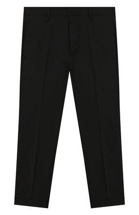 Детские шерстяные брюки DSQUARED2 черного цвета, арт. DQ02E5-D00X9   Фото 1