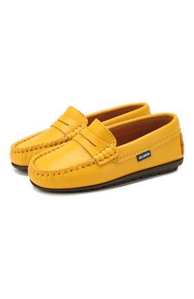 Детские кожаные мокасины ATLANTA MOCASSIN желтого цвета, арт. 9AT1AN032GCSTT/28-34 | Фото 1