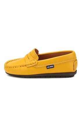Детские кожаные мокасины ATLANTA MOCASSIN желтого цвета, арт. 9AT1AN032GCSTT/28-34 | Фото 2