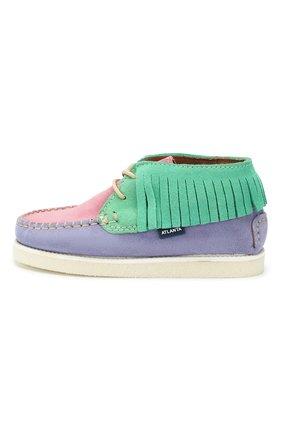 Детские замшевые ботинки ATLANTA MOCASSIN разноцветного цвета, арт. 9AT4AC074RZSBJ/28-34   Фото 2 (Материал внутренний: Натуральная кожа)