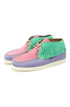 Детские замшевые ботинки ATLANTA MOCASSIN разноцветного цвета, арт. 9AT4AC074RZSBJ/35-41   Фото 1