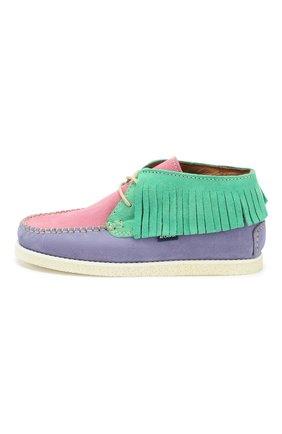 Детские замшевые ботинки ATLANTA MOCASSIN разноцветного цвета, арт. 9AT4AC074RZSBJ/35-41   Фото 2