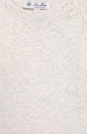 Детский хлопковый свитшот LORO PIANA серого цвета, арт. FAL0869   Фото 3