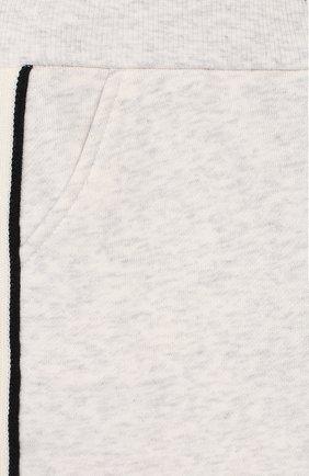 Детские хлопковые джоггеры LORO PIANA серого цвета, арт. FAL0870 | Фото 3