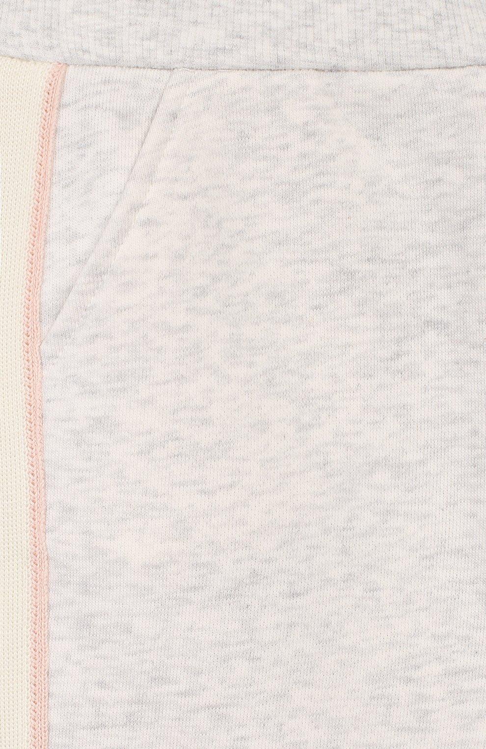 Детские хлопковые джоггеры LORO PIANA розового цвета, арт. FAL0870   Фото 3