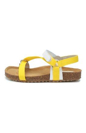 Детские босоножки IL GUFO желтого цвета, арт. G578/VITELL0 NAPPAC0L0RS/27-30 | Фото 2