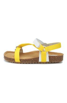 Детские босоножки IL GUFO желтого цвета, арт. G578/VITELL0 NAPPAC0L0RS/31-34 | Фото 2