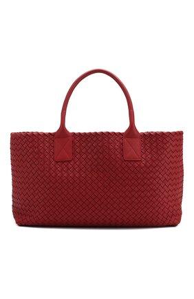 Женская сумка cabat medium BOTTEGA VENETA бордового цвета, арт. 115664/V9135 | Фото 1