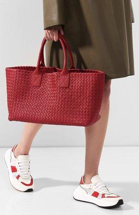 Женская сумка cabat medium BOTTEGA VENETA бордового цвета, арт. 115664/V9135 | Фото 2
