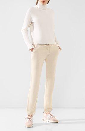 Женские комбинированные кроссовки 360 lp walk LORO PIANA светло-розового цвета, арт. FAI1590 | Фото 2