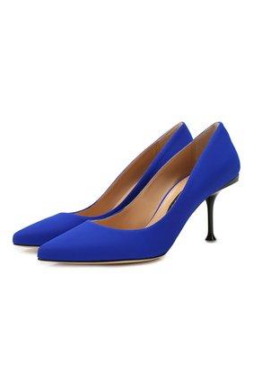 Женская текстильные туфли SERGIO ROSSI синего цвета, арт. A81750-MTE134 | Фото 1