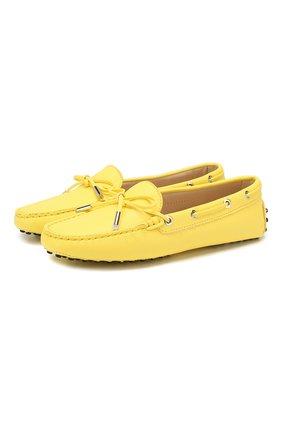 Женские кожаные мокасины heaven TOD'S желтого цвета, арт. XXW0FW050305J1 | Фото 1