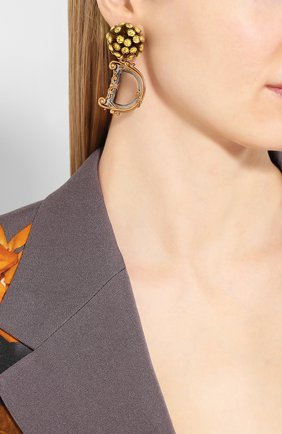 Женские клипсы DOLCE & GABBANA золотого цвета, арт. WEL6G1/W1111 | Фото 2