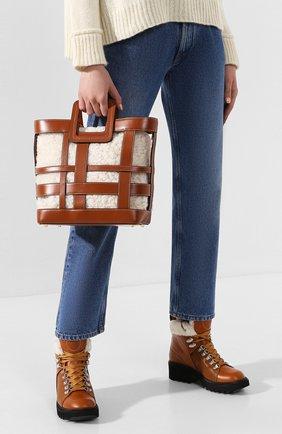 Женская сумка shirley STAUD светло-коричневого цвета, арт. 07-9164 | Фото 2