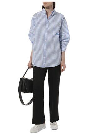 Женские кожаные кеды portofino DOLCE & GABBANA белого цвета, арт. CK1602/AN298 | Фото 2 (Материал внутренний: Натуральная кожа; Подошва: Платформа; Статус проверки: Проверена категория)