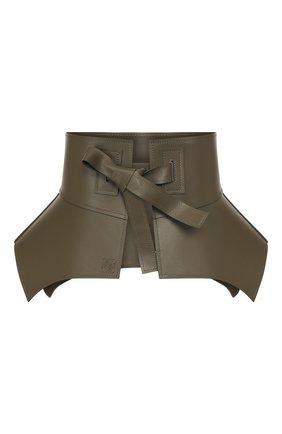 Женский кожаный пояс obi LOEWE хаки цвета, арт. S1100070CI | Фото 1