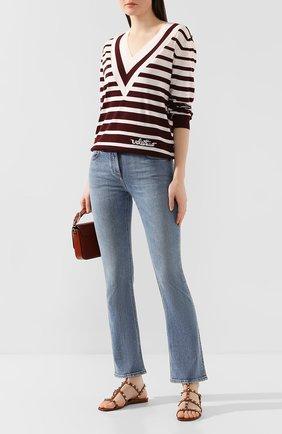 Женские кожаные сандалии valentino garavani rockstud VALENTINO коричневого цвета, арт. TW2S0A05/V0D | Фото 2