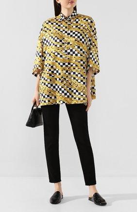 Женские кожаные сабо cosy bb BALENCIAGA черного цвета, арт. 601218/WA9D4 | Фото 2