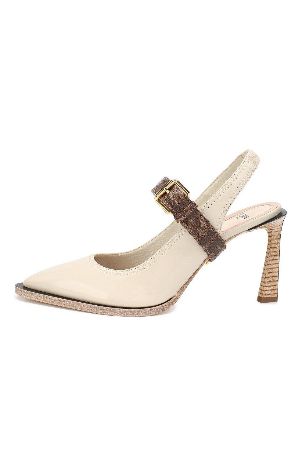 Женские туфли FENDI светло-серого цвета, арт. 8J7017 A8TW | Фото 3