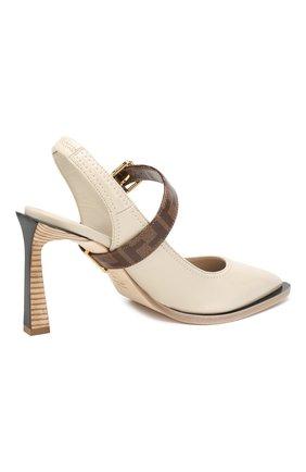 Женские туфли FENDI светло-серого цвета, арт. 8J7017 A8TW | Фото 4