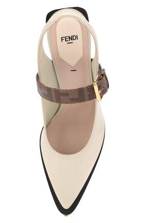 Женские туфли FENDI светло-серого цвета, арт. 8J7017 A8TW | Фото 5
