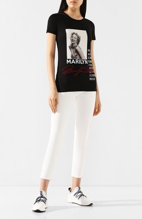 Женские текстильные кроссовки SERGIO ROSSI белого цвета, арт. A89420-MFN886 | Фото 2