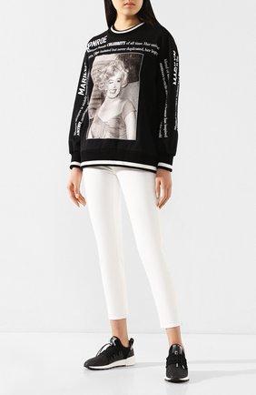 Женские текстильные кроссовки SERGIO ROSSI черного цвета, арт. A89420-MFN890 | Фото 2