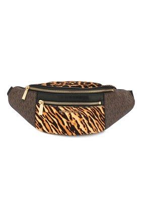 Женская поясная сумка mott MICHAEL MICHAEL KORS коричневого цвета, арт. 30F9G0XN6B   Фото 1