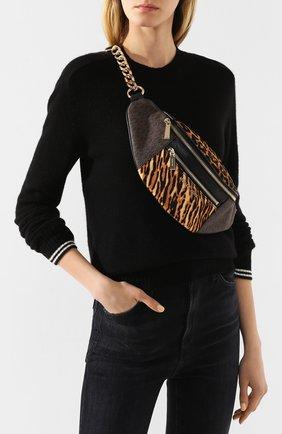Женская поясная сумка mott MICHAEL MICHAEL KORS коричневого цвета, арт. 30F9G0XN6B   Фото 2