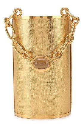 Женский сумка OSCAR DE LA RENTA золотого цвета, арт. 20RH340SAL | Фото 1