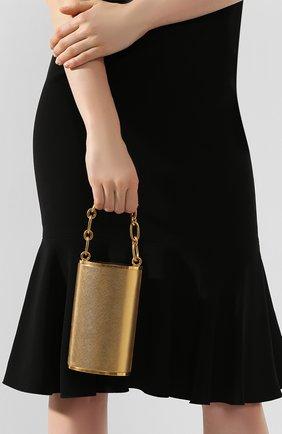 Женский сумка OSCAR DE LA RENTA золотого цвета, арт. 20RH340SAL | Фото 2