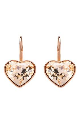 Женские серьги bella heart SWAROVSKI золотого цвета, арт. 5515192 | Фото 1