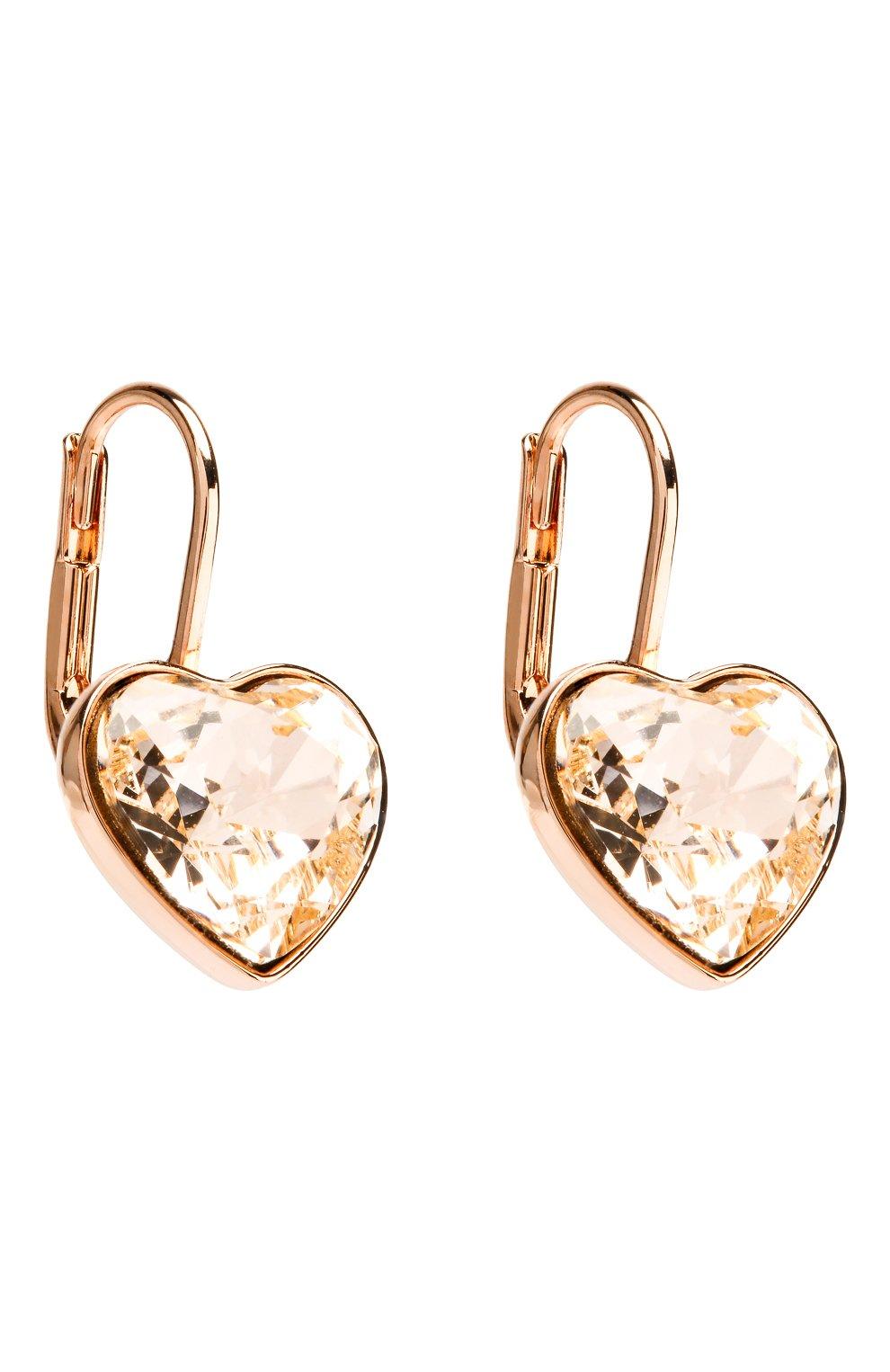 Женские серьги bella heart SWAROVSKI золотого цвета, арт. 5515192 | Фото 3