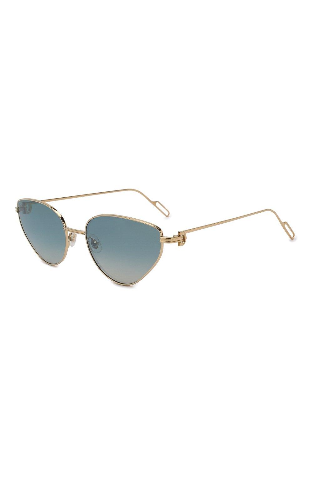 Женские солнцезащитные очки CARTIER голубого цвета, арт. CT0155 005 | Фото 1