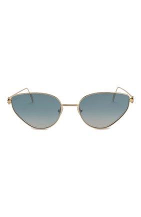 Женские солнцезащитные очки CARTIER голубого цвета, арт. CT0155 005 | Фото 3