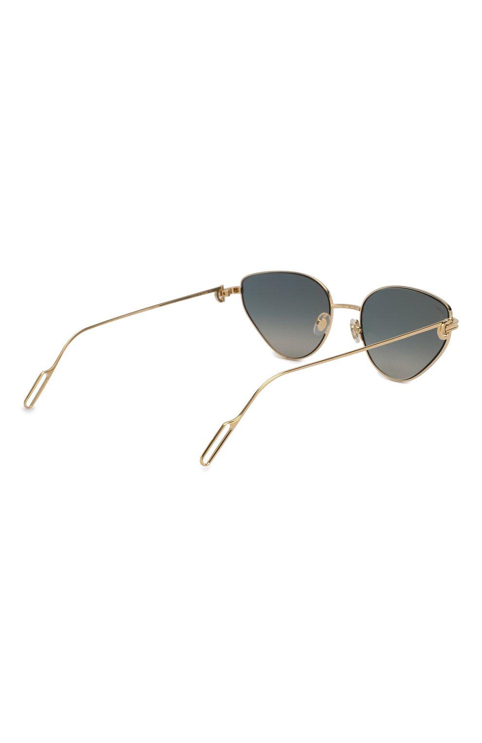 Женские солнцезащитные очки CARTIER голубого цвета, арт. CT0155 005 | Фото 4