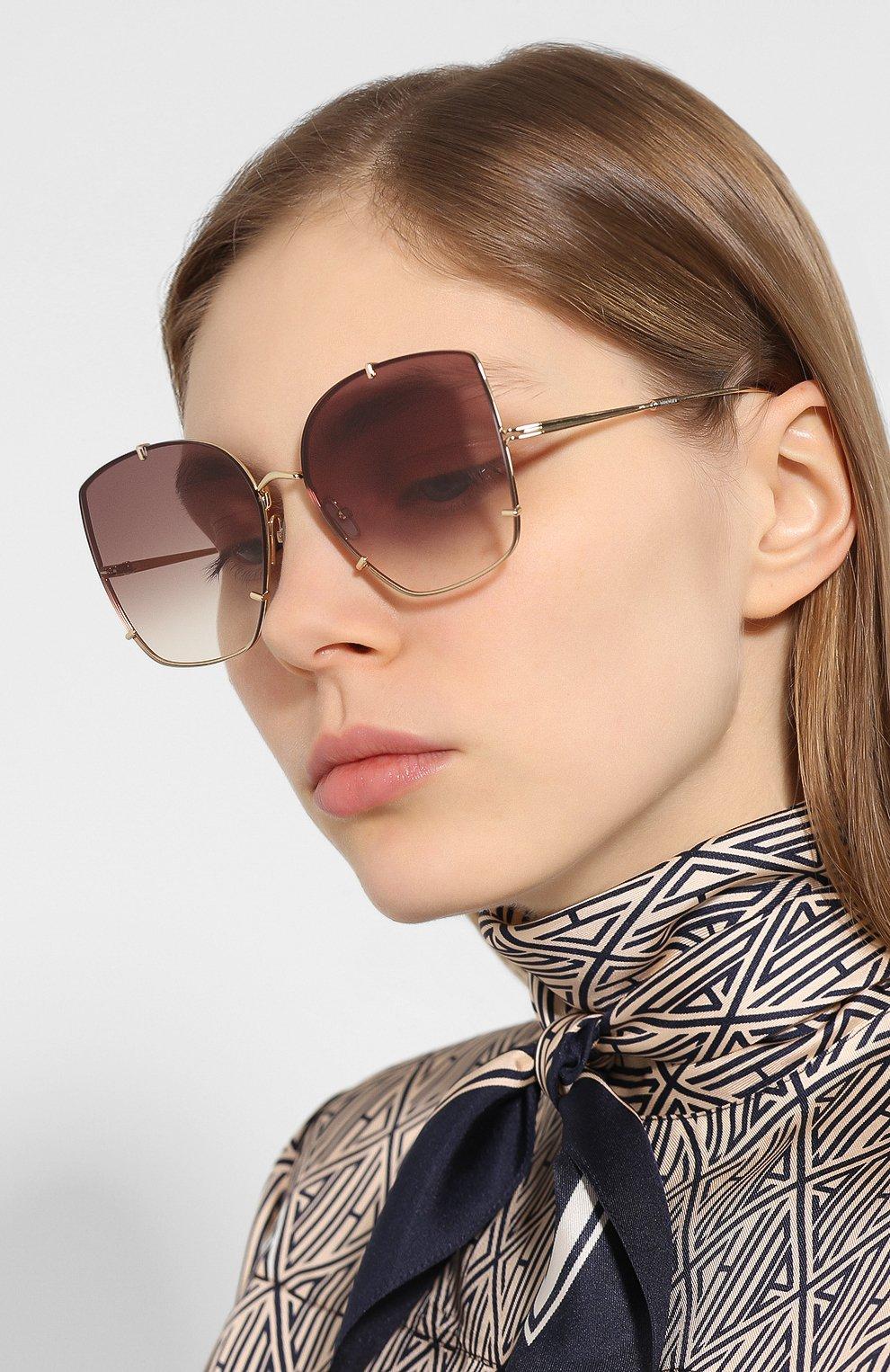 Женские солнцезащитные очки MAX MARA коричневого цвета, арт. H00KS II J5G | Фото 2