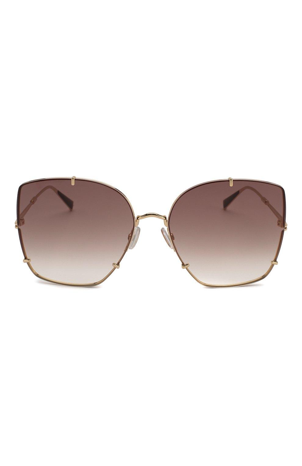 Женские солнцезащитные очки MAX MARA коричневого цвета, арт. H00KS II J5G | Фото 3