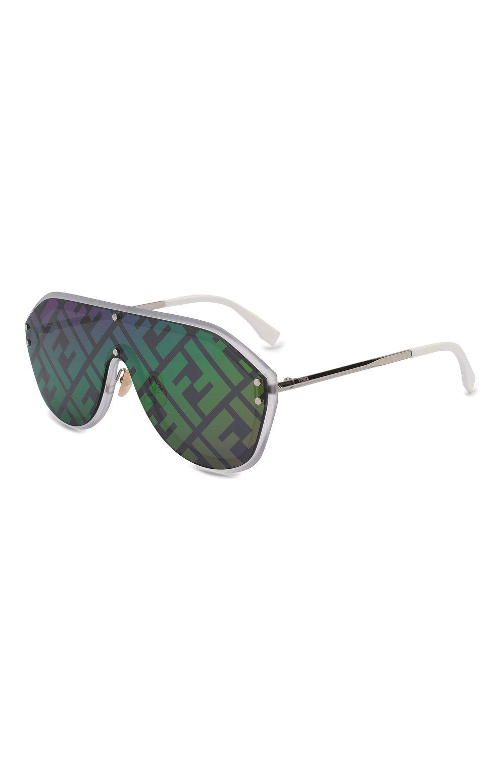 Женские солнцезащитные очки FENDI зеленого цвета, арт. M0039/G F74 | Фото 1