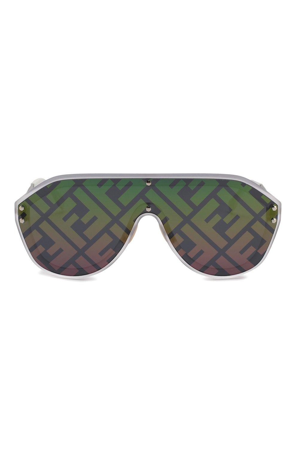 Женские солнцезащитные очки FENDI зеленого цвета, арт. M0039/G F74 | Фото 3