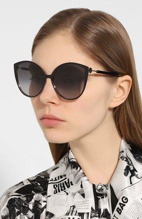Мужские солнцезащитные очки FENDI черного цвета, арт. 0395/F 2M2 | Фото 2