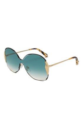 Женские солнцезащитные очки CHLOÉ изумрудного цвета, арт. 162S-838 | Фото 1