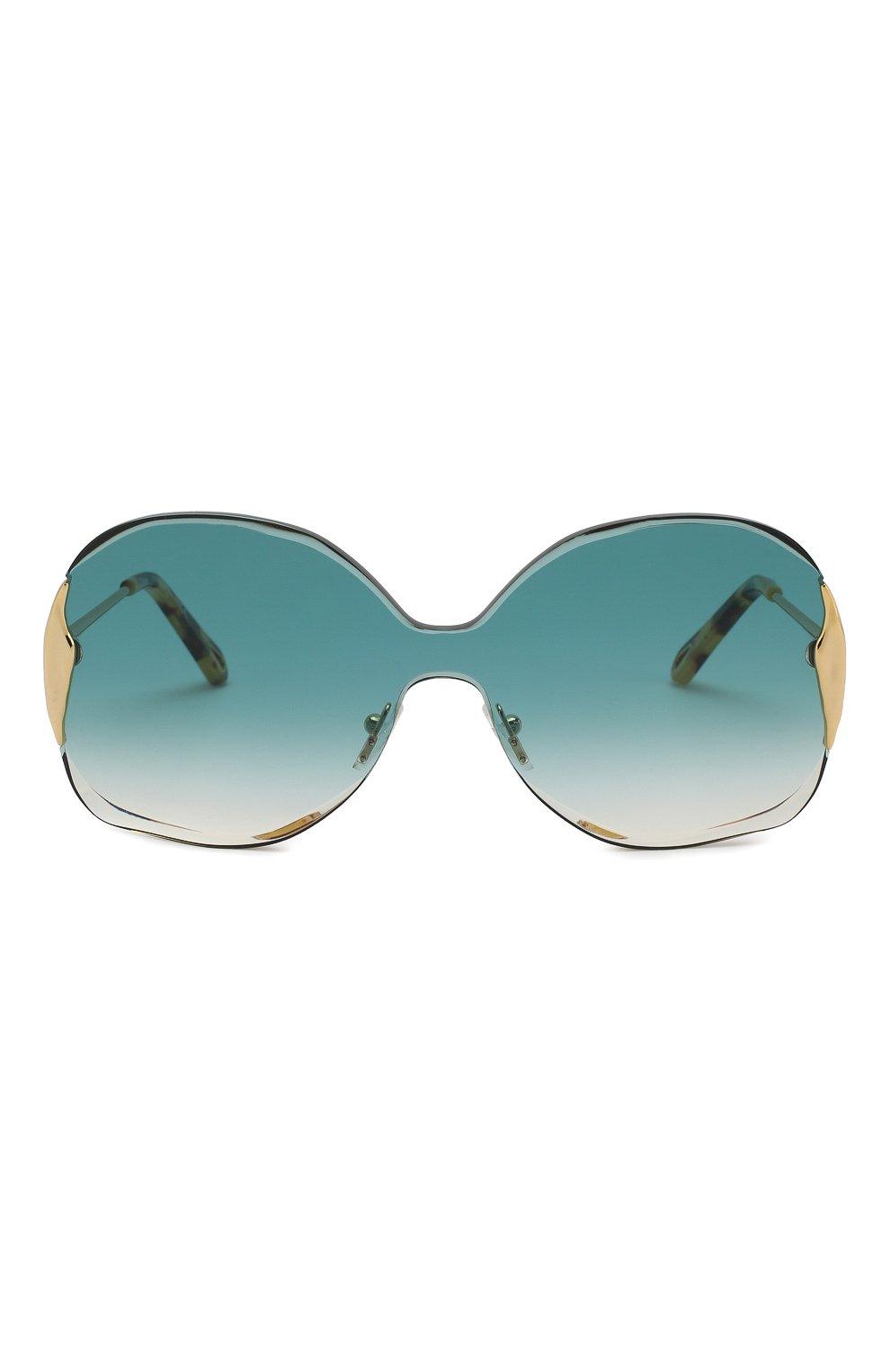 Женские солнцезащитные очки CHLOÉ изумрудного цвета, арт. 162S-838 | Фото 3