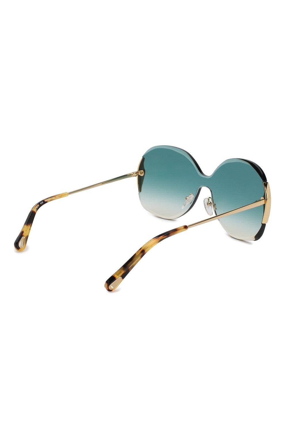 Женские солнцезащитные очки CHLOÉ изумрудного цвета, арт. 162S-838 | Фото 4