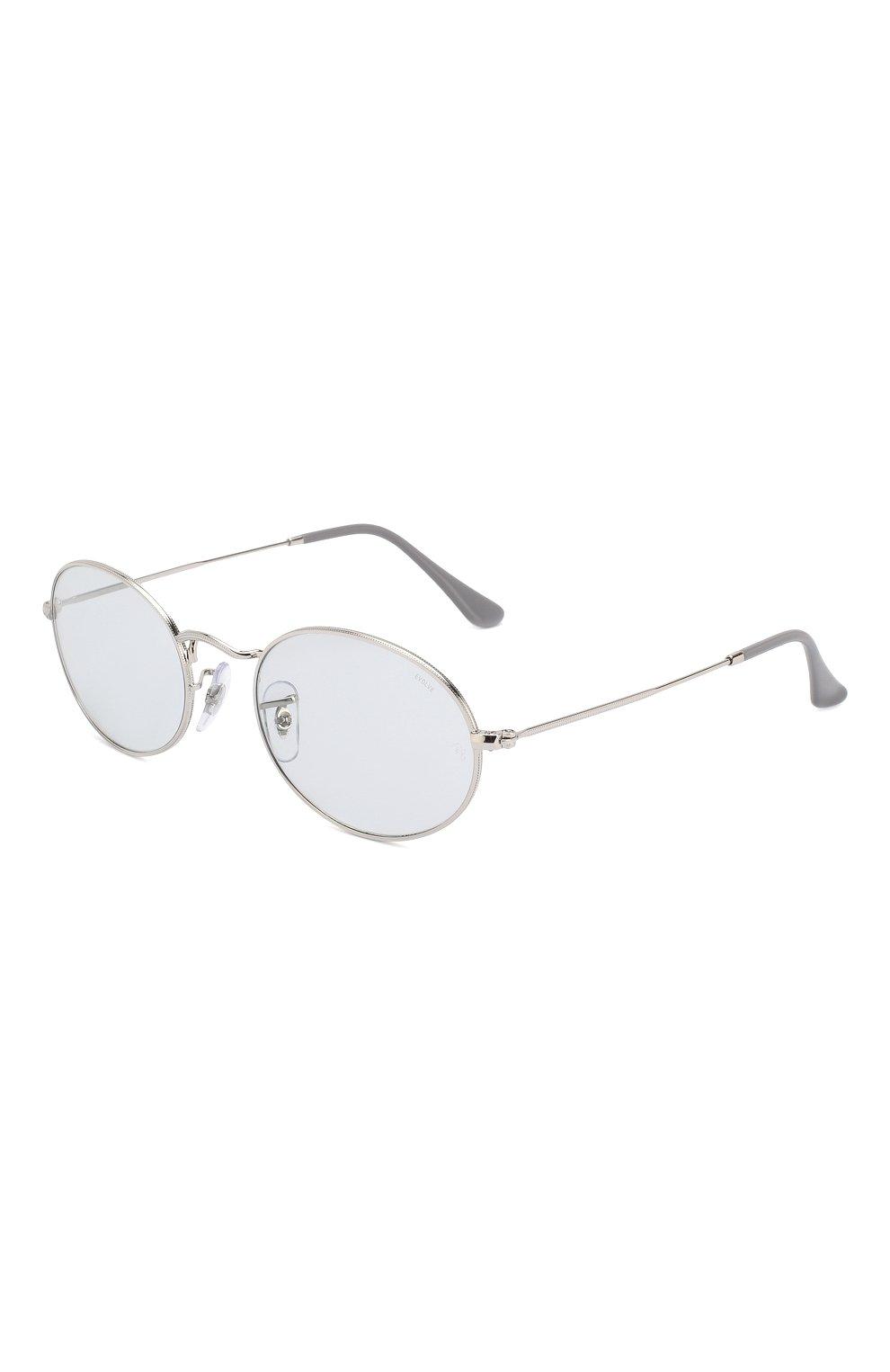 Женские солнцезащитные очки RAY-BAN светло-голубого цвета, арт. 3547-003/T3 | Фото 1