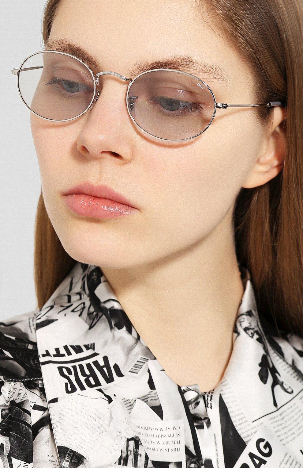 Женские солнцезащитные очки RAY-BAN светло-голубого цвета, арт. 3547-003/T3 | Фото 2