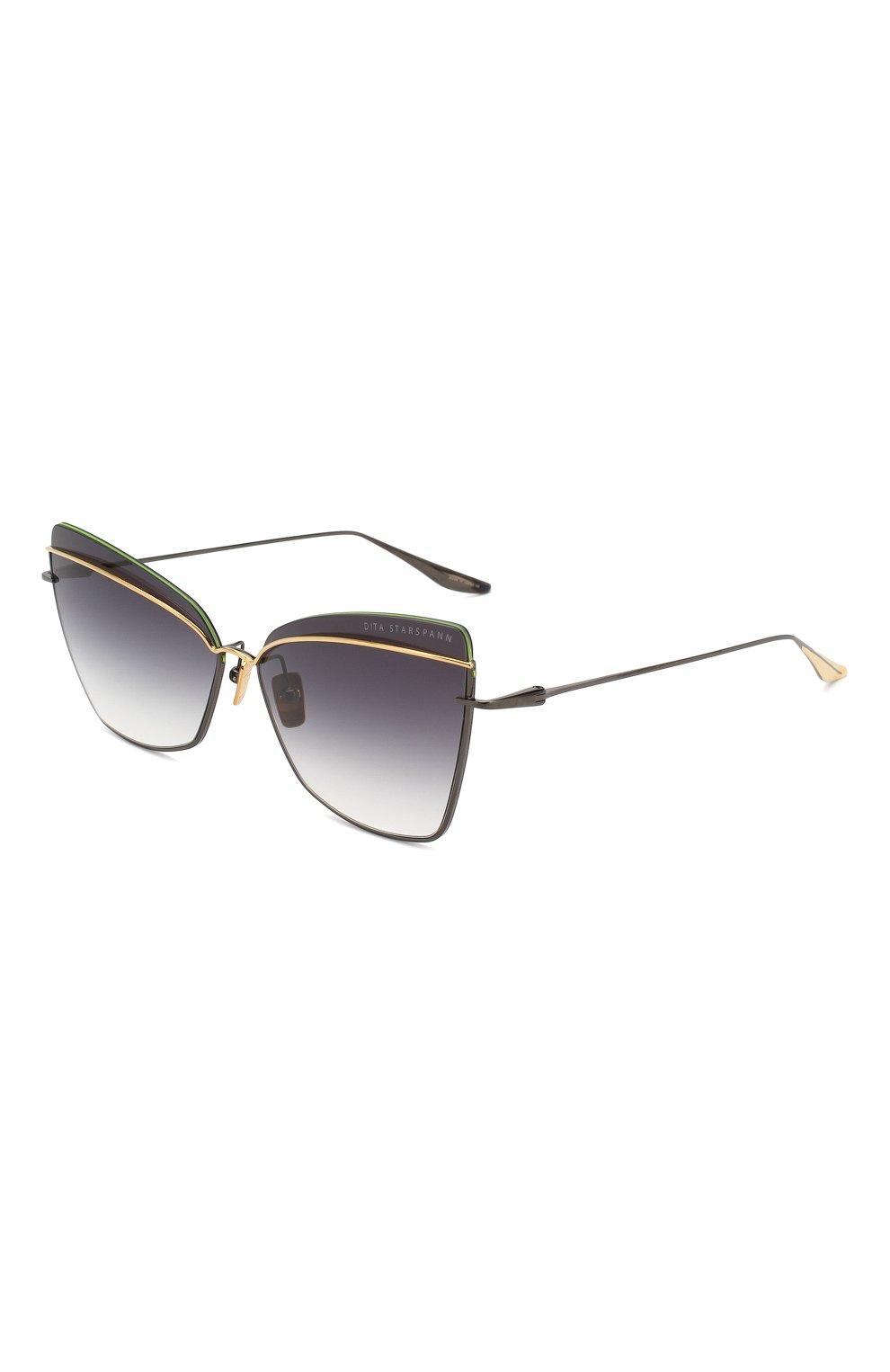 Женские солнцезащитные очки DITA черного цвета, арт. STARSPANN/03 | Фото 1