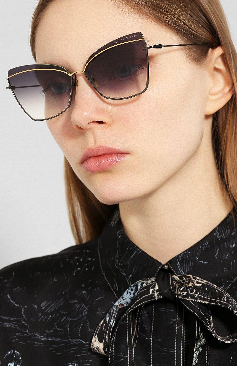 Женские солнцезащитные очки DITA черного цвета, арт. STARSPANN/03 | Фото 2
