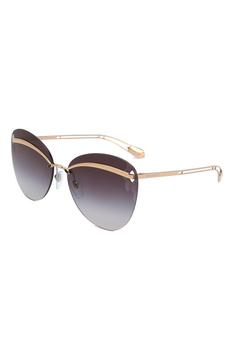 Женские солнцезащитные очки BVLGARI черного цвета, арт. 6130-20148G | Фото 1