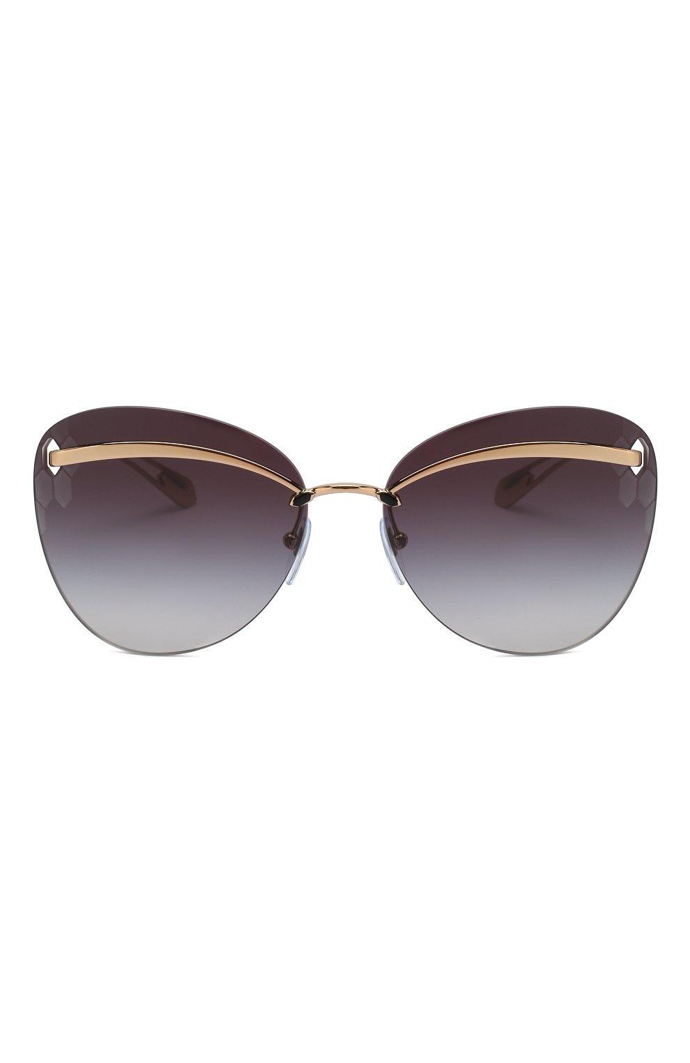 Женские солнцезащитные очки BVLGARI черного цвета, арт. 6130-20148G | Фото 3